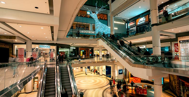 shopping centres malls and retail supermarkets